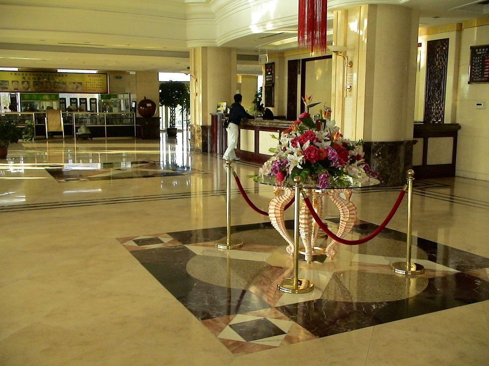 For Impressing Customers You Need A Perfectly Clean Office Lobby Environment A Well Maintained L Clean Office Industrial Office Decor Security Guard Services