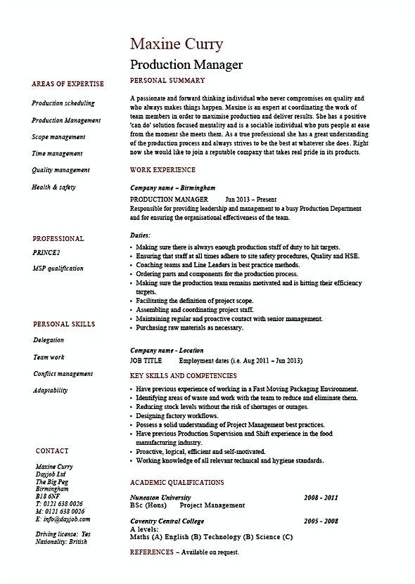 production manager resume , Production Manager Resume , This