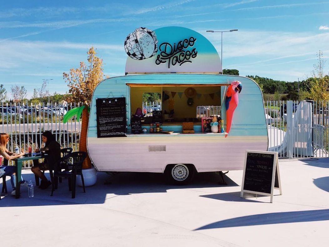 Les Plus Belles Caravanes De Forains vintage caravan foodtruck disco & tacos : authentic mexican