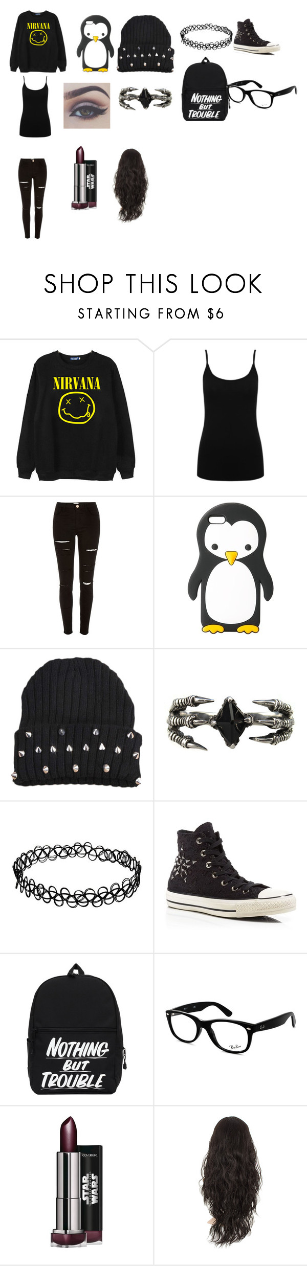 """""""A day with Luke himmings"""" by that-random-emo ❤ liked on Polyvore featuring Chicnova Fashion, M&Co, River Island, MANGO, KD2024, Converse and Ray-Ban"""