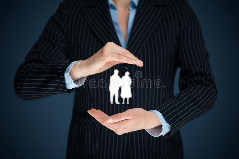 Great pic pension insurance and seniors stock photo