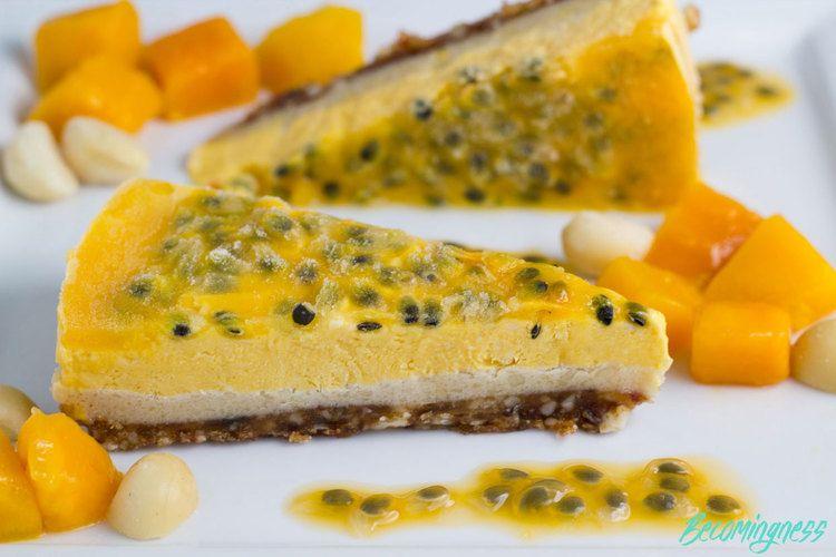 Mango-and-Passionfruit-Cheesecake