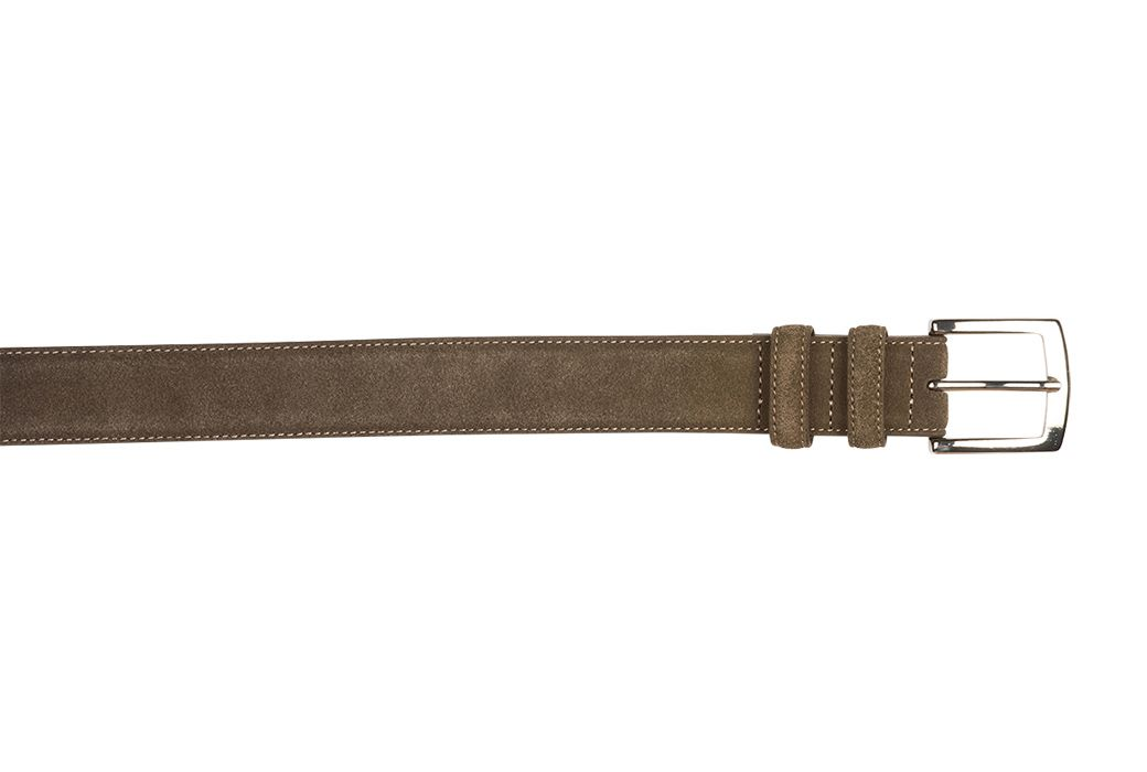 Westgate Silver Taupe Velours – Ceinture pour homme en velours taupe   – Products