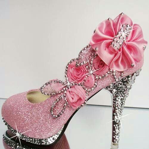 Pink bling pumps  7d48ed370