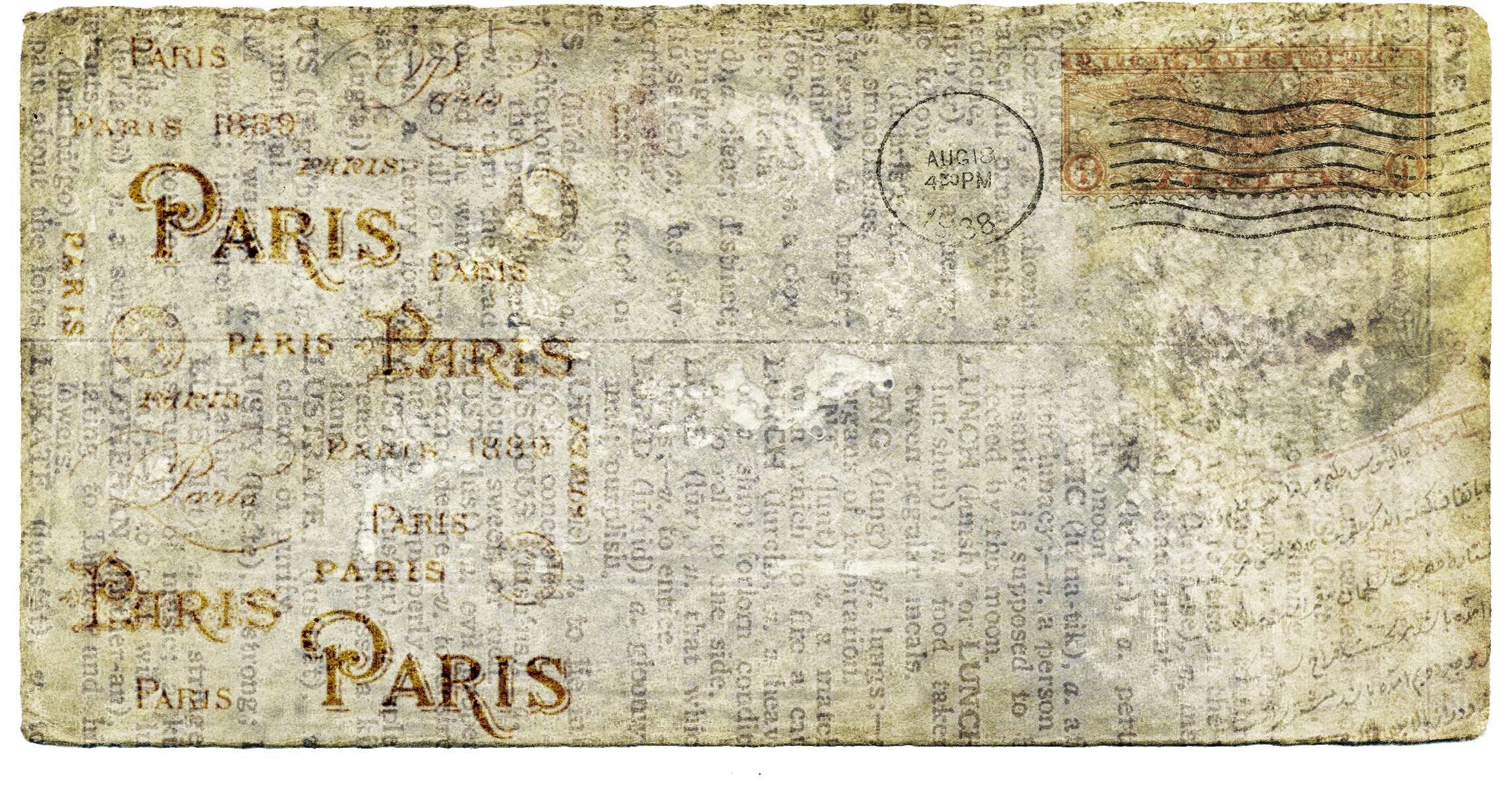 Antique Ephemera French Letters Love Mail Old