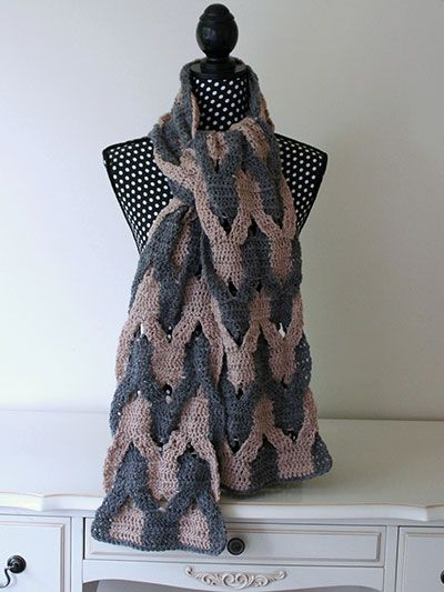 Interwoven Scarf Crochet Pattern From Annie S Craft Store Order