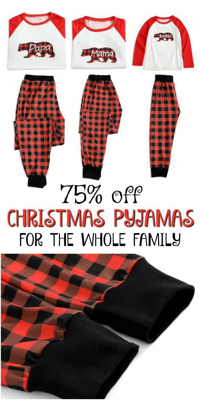 Such cute Christmas Pajamas for the whole family! I love