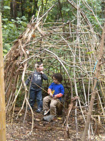We built a wigwam at Briar Bush!