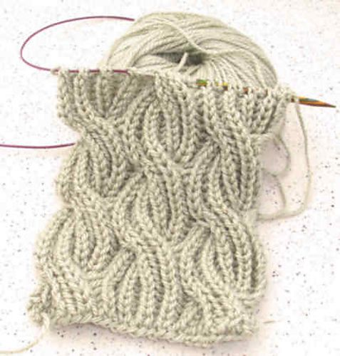 Reversible cable brioche stitch knit scarf | knitting | Pinterest ...