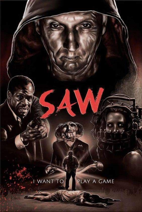 Horror Movie Poster Art Saw 2004 By Ralph Krause Pics