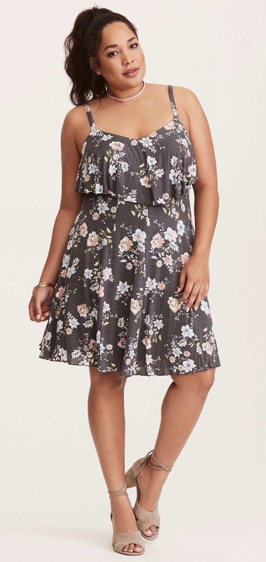 Plus Size Dress   Robes à fleurs bleues, Idées ...