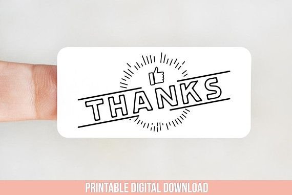Thanks Packaging Sticker Design for Thermal Printers - Thank