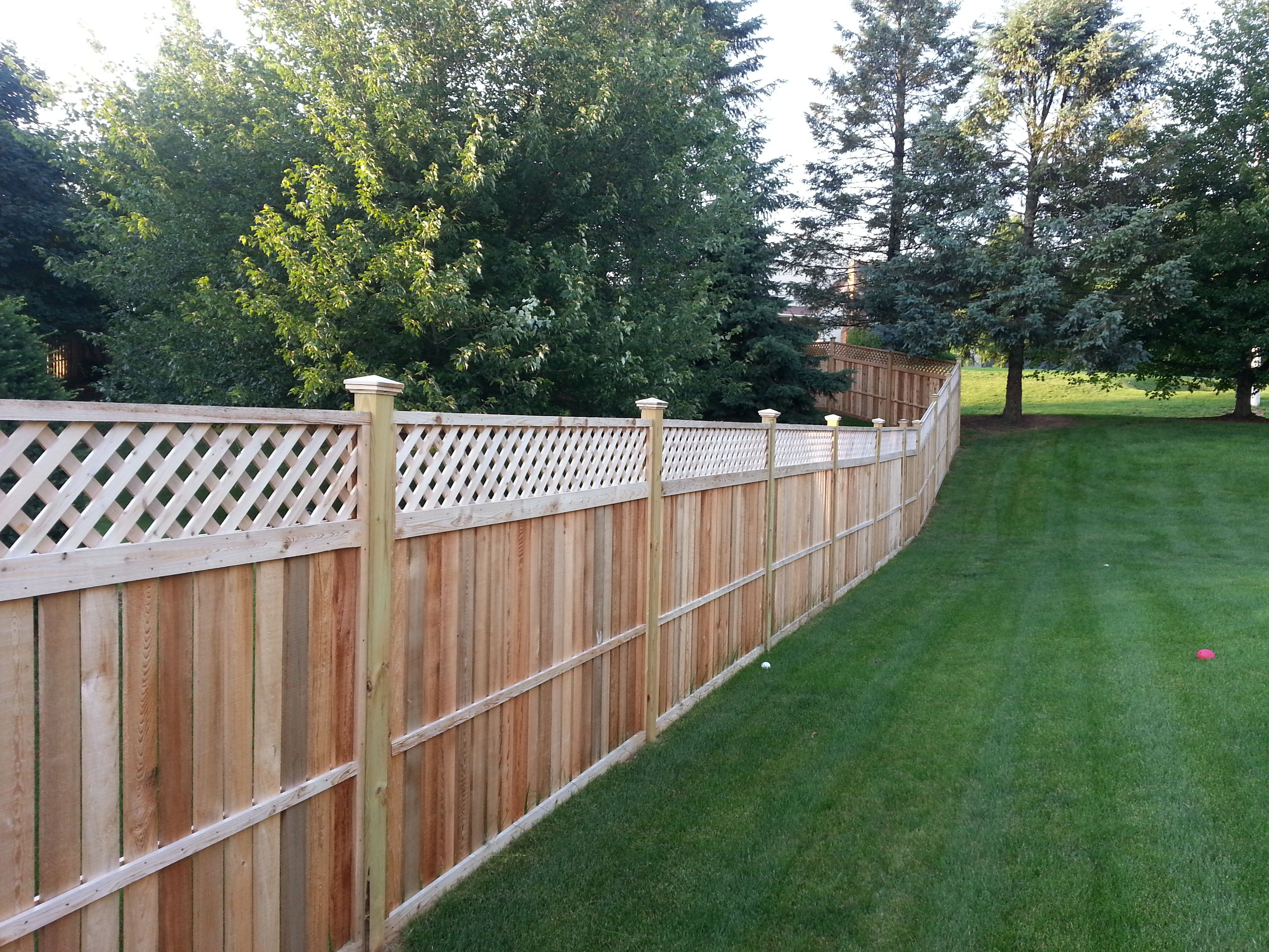 Framed fencing - 5' solid with 1' of lattice on top ...