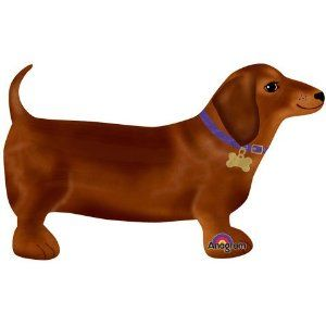 Adorable Dachshund Dog Super Shape 24 Mylar Balloon By Anagram