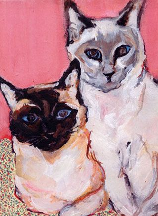 Photo of Painting of Siamese Cats