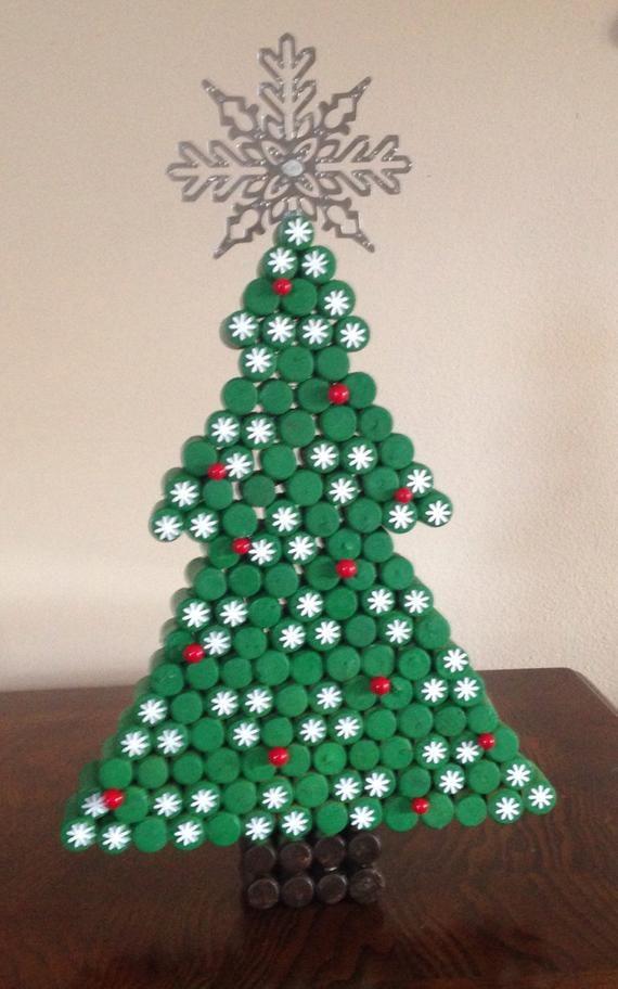 Items Similar To Recycled Cork Christmas Tree On Etsy Artesanato