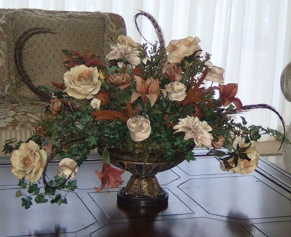 Beautiful and luxury huge silk flowers arrangements.