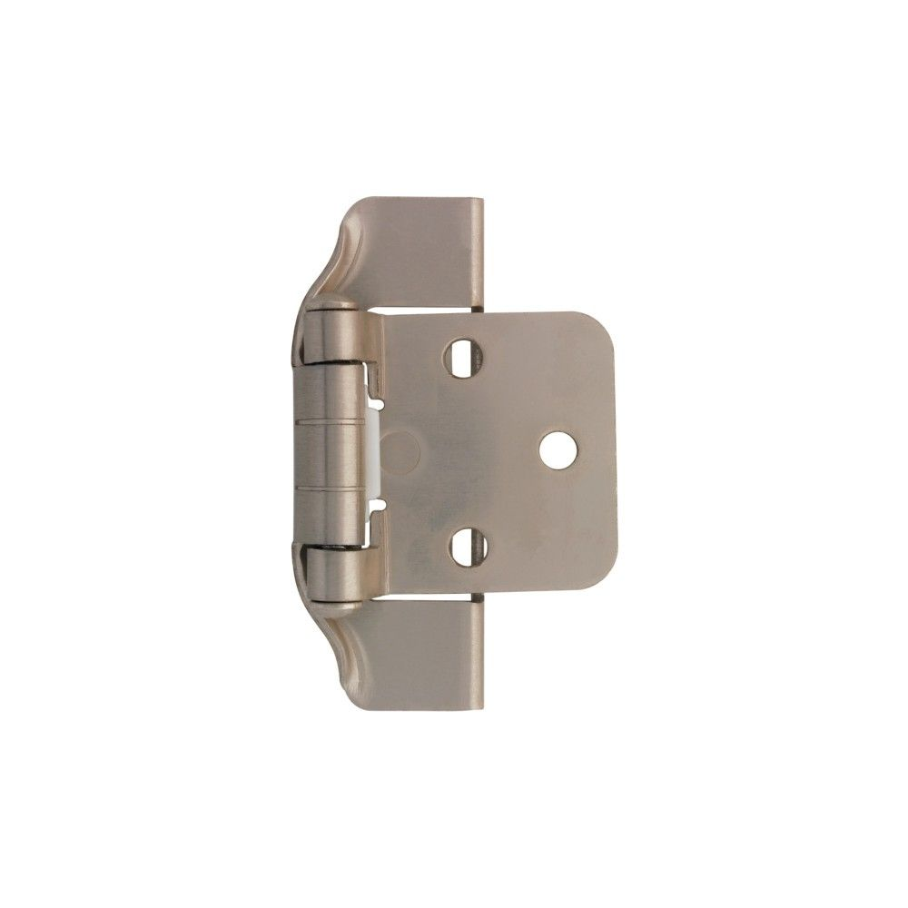 Liberty H01915l U 1 2 Partial Overlay Wrap Cabinet Door Hinge Package Of 2 Satin Nickel In 2020 Inset Hinges Cabinet Doors Door Hinges