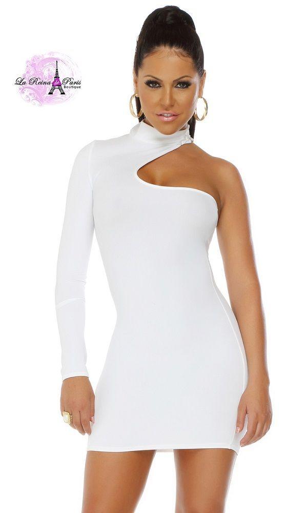 3881a62228 Comprar Vestido corto voluptuoso blanco online Vestidos baratos ...
