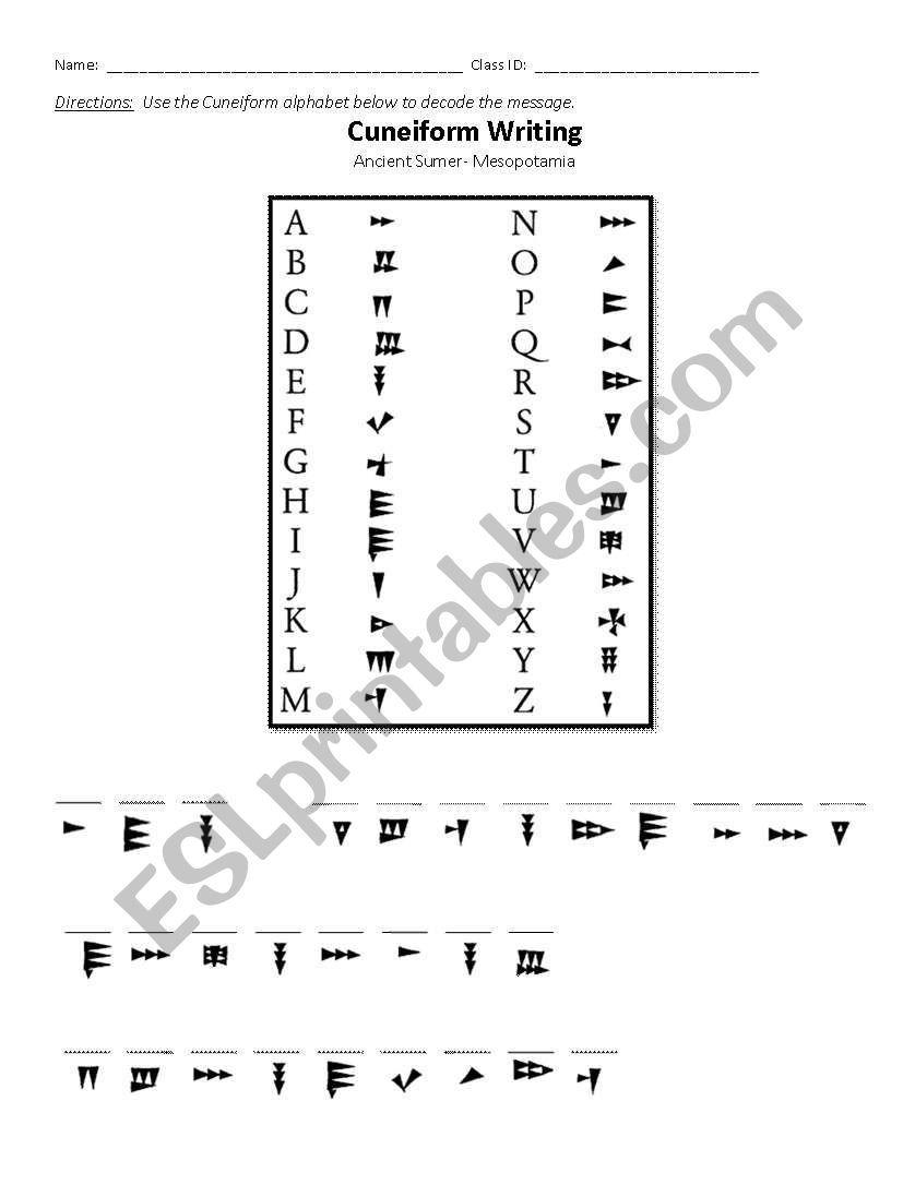 mesopotamia uk writing index