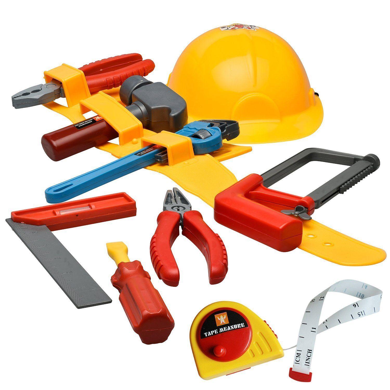 Amazoncom Prextex Little Handyman Kids Toy Tool Belt Set With