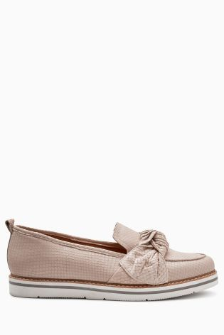 Buy Nude Snake EVA Knot Loafers from the Next UK online shop