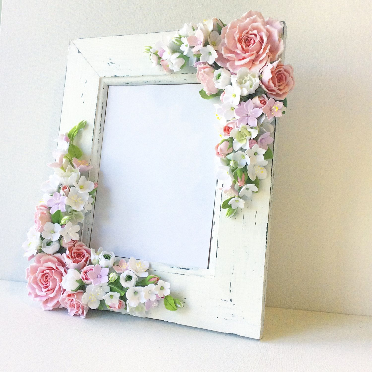 Deposit Payment Wedding Frame For Wedding Photo Polymer Etsy In 2020 Polymer Clay Flowers Wedding Frames Clay Flowers
