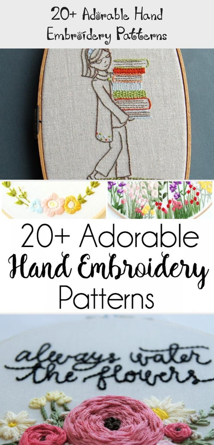20+ Adorable Hand Embroidery Patterns - BRODERY