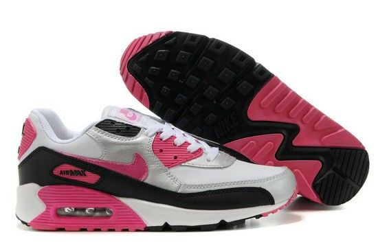 save off 74042 13a0f 2014 parti Dam Nike Air Max 90 Sneakers Rosa Svart Vita outlet online shop