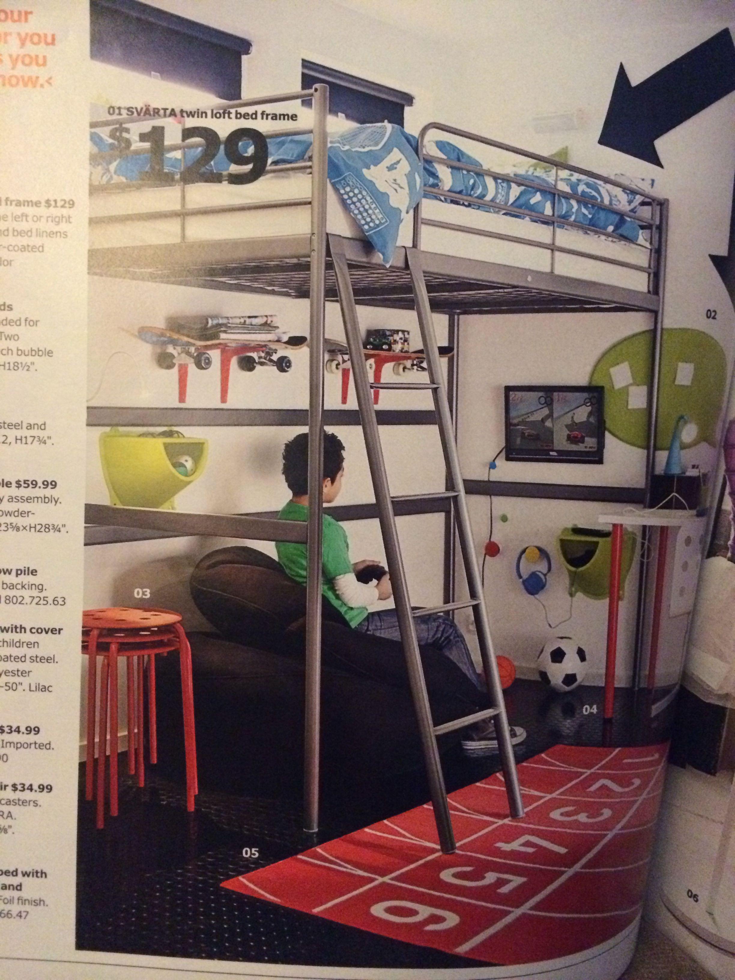 Ikea Svarta Loft Bed For Kids Boys Loft Beds Loft Bed