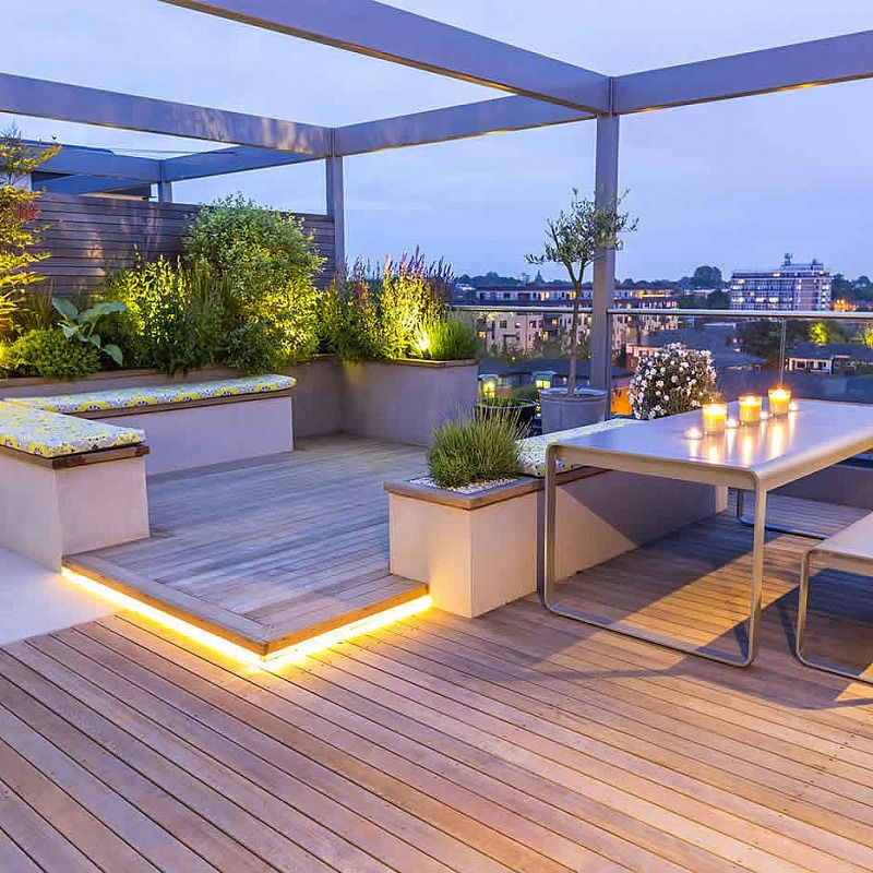 Roof terrace design king s cross tuin pinterest for Terrace seating ideas