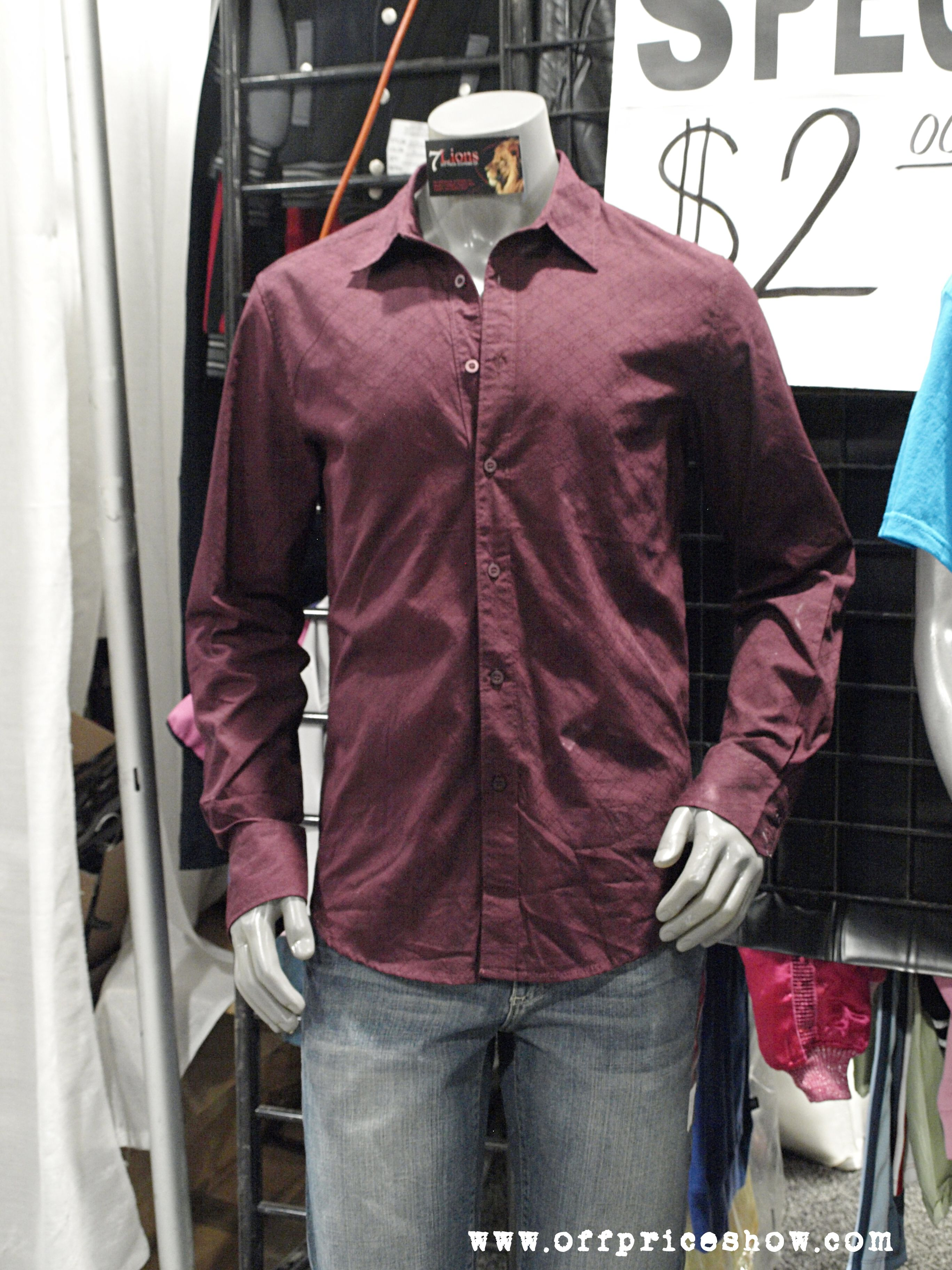 Men's burgundy button-up long sleeve shirt paired with casual ...