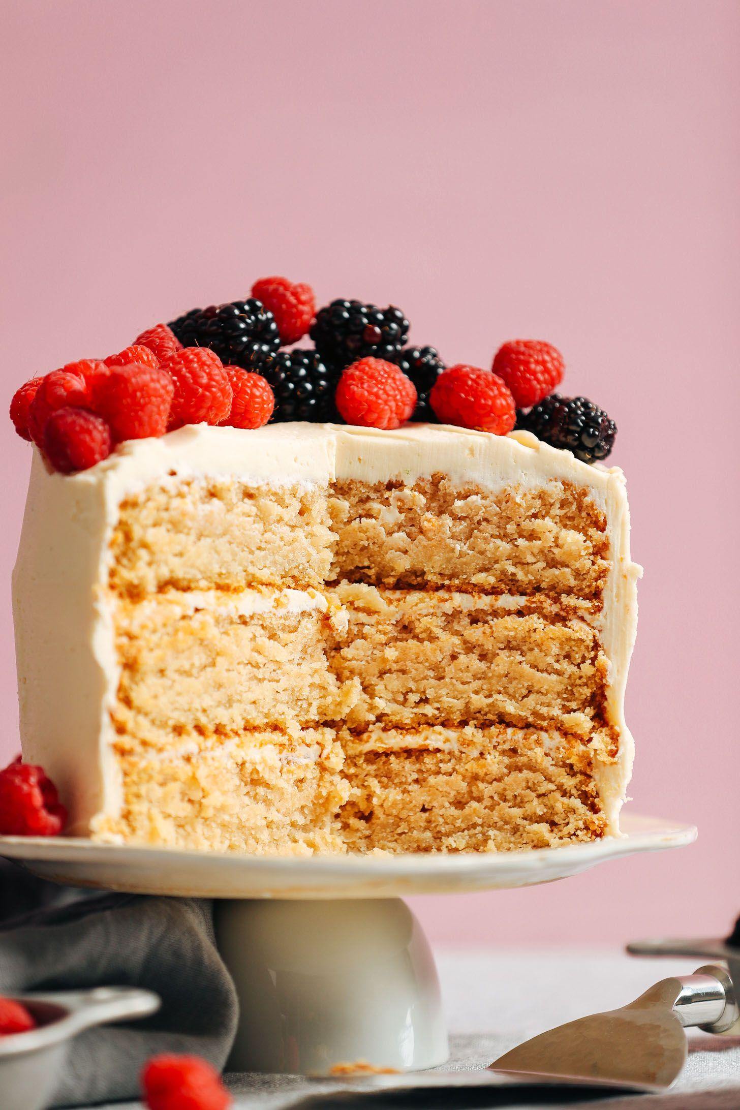 1 Bowl Vegan Gluten Free Vanilla Cake Recipe In 2020 Gluten