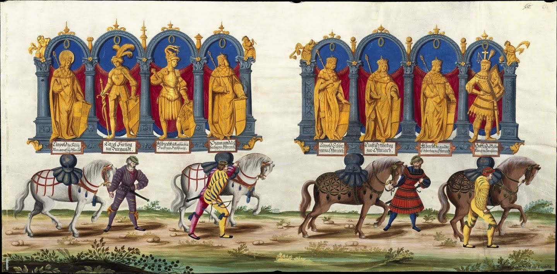 Albrecht Altdorfer (c. 1480 -1538), Hans Burgkmair (1473-1531), Albrecht Dürer (1471-1528) & others — Triumphal Procession, 1517 (1440x709)
