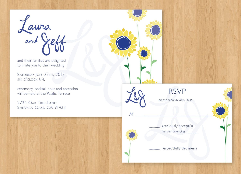 DIY Printable Sunflower Wedding Invitation & by