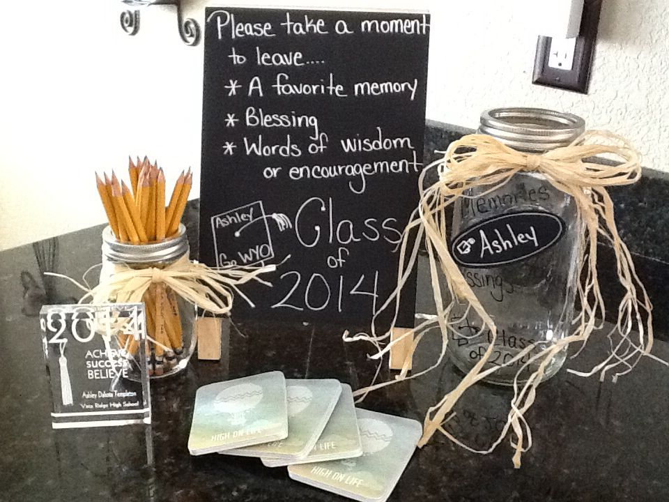 Graduation Memories Advice And Blessing Jar Graduation Memories Graduation Party High Graduation Party Decor
