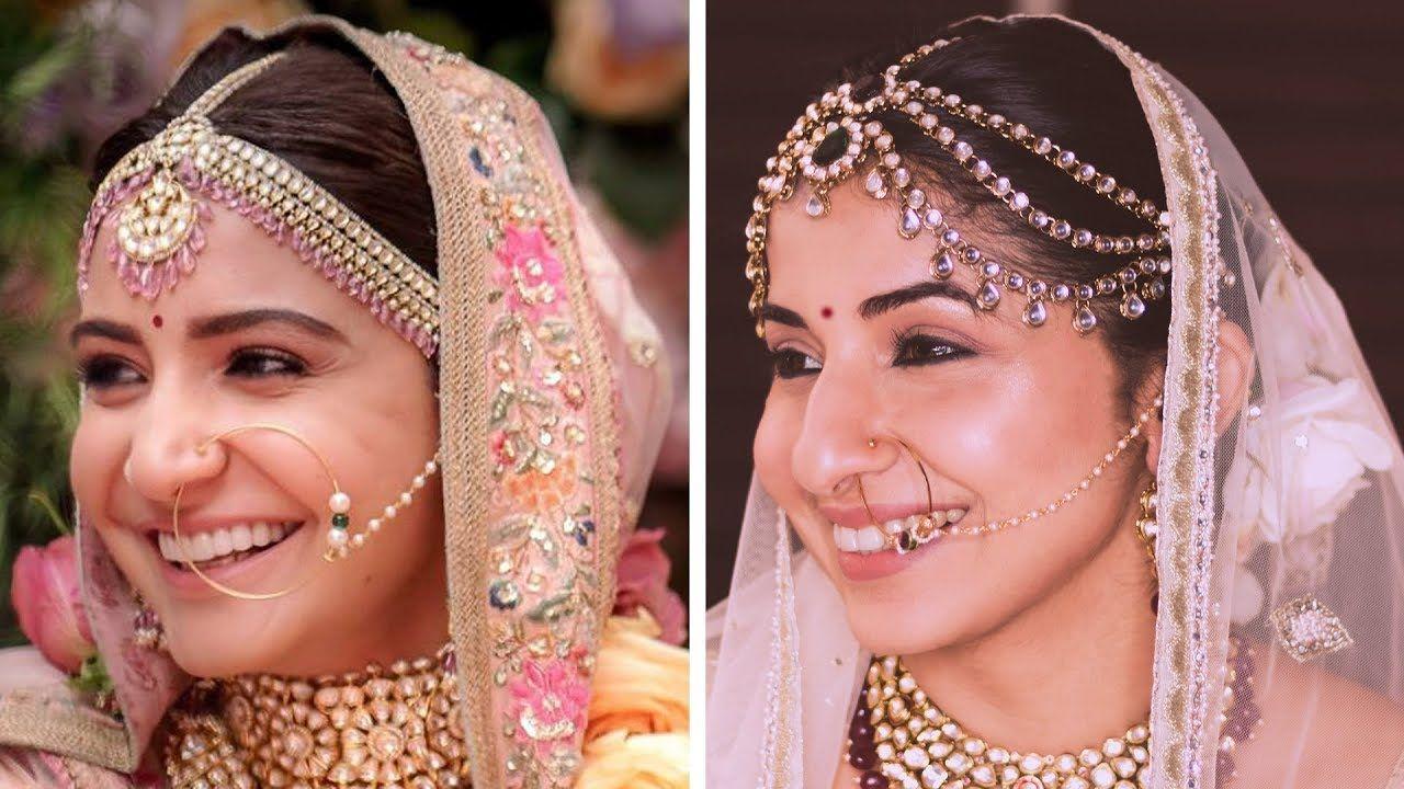anushka sharma wedding makeup   indian bridal makeup look