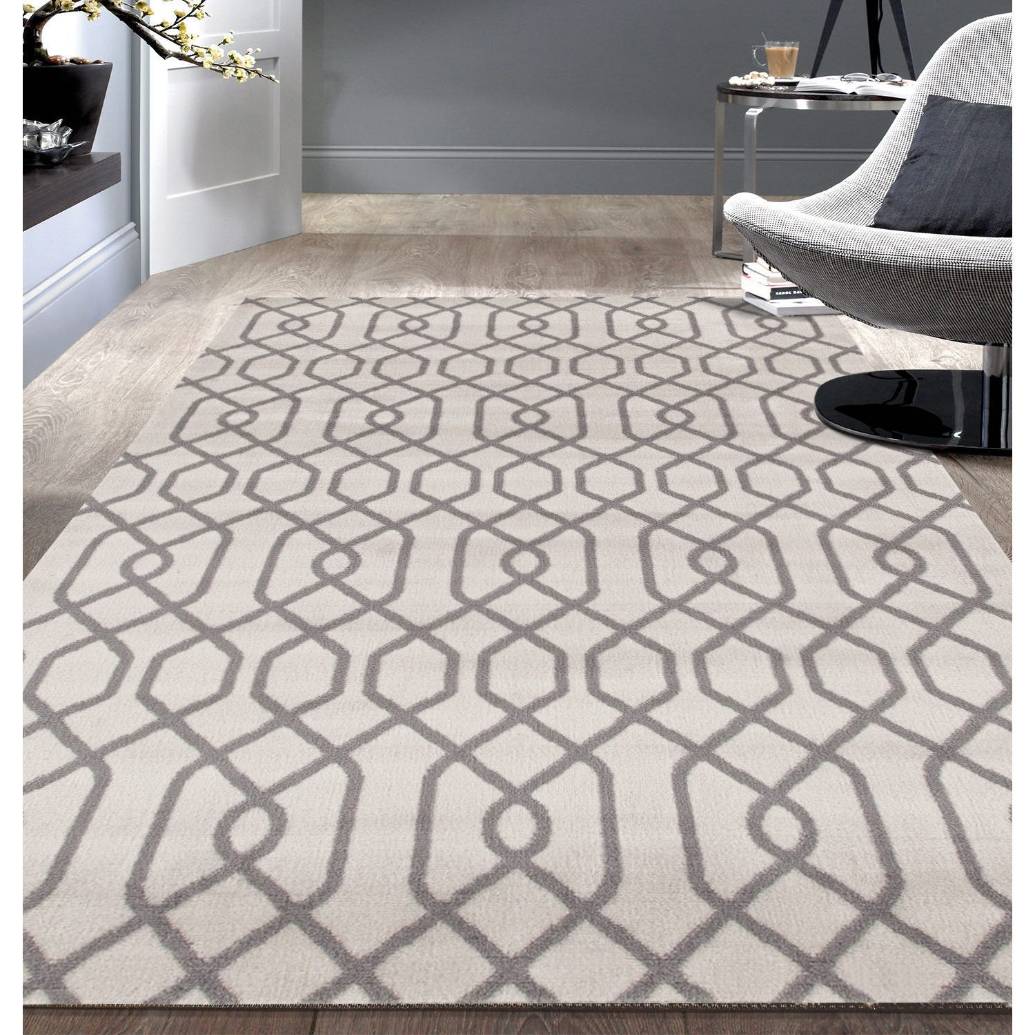 Buy modern trellis rug from Overstock for everyday discount