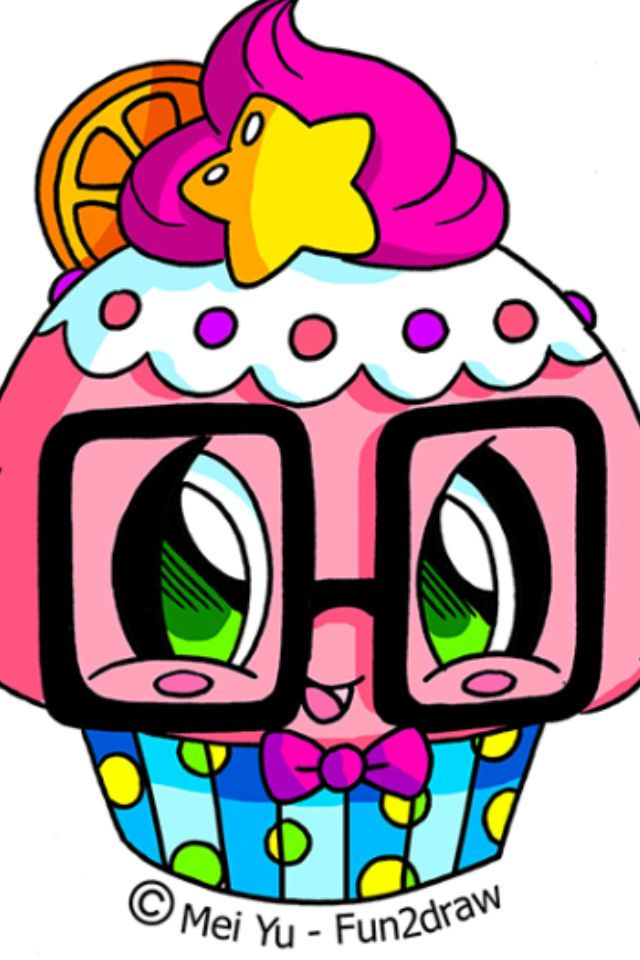 Fun2draw Cute Cupcake W Fun2draw Coloring Pages Shopkins Colouring Pages