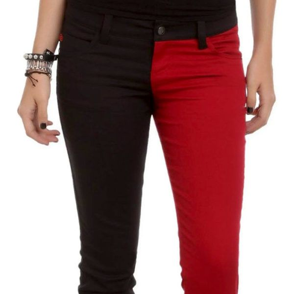 Harley Black & Red Skinny Jeans - $40 ⋆ DC Comics Gifts!