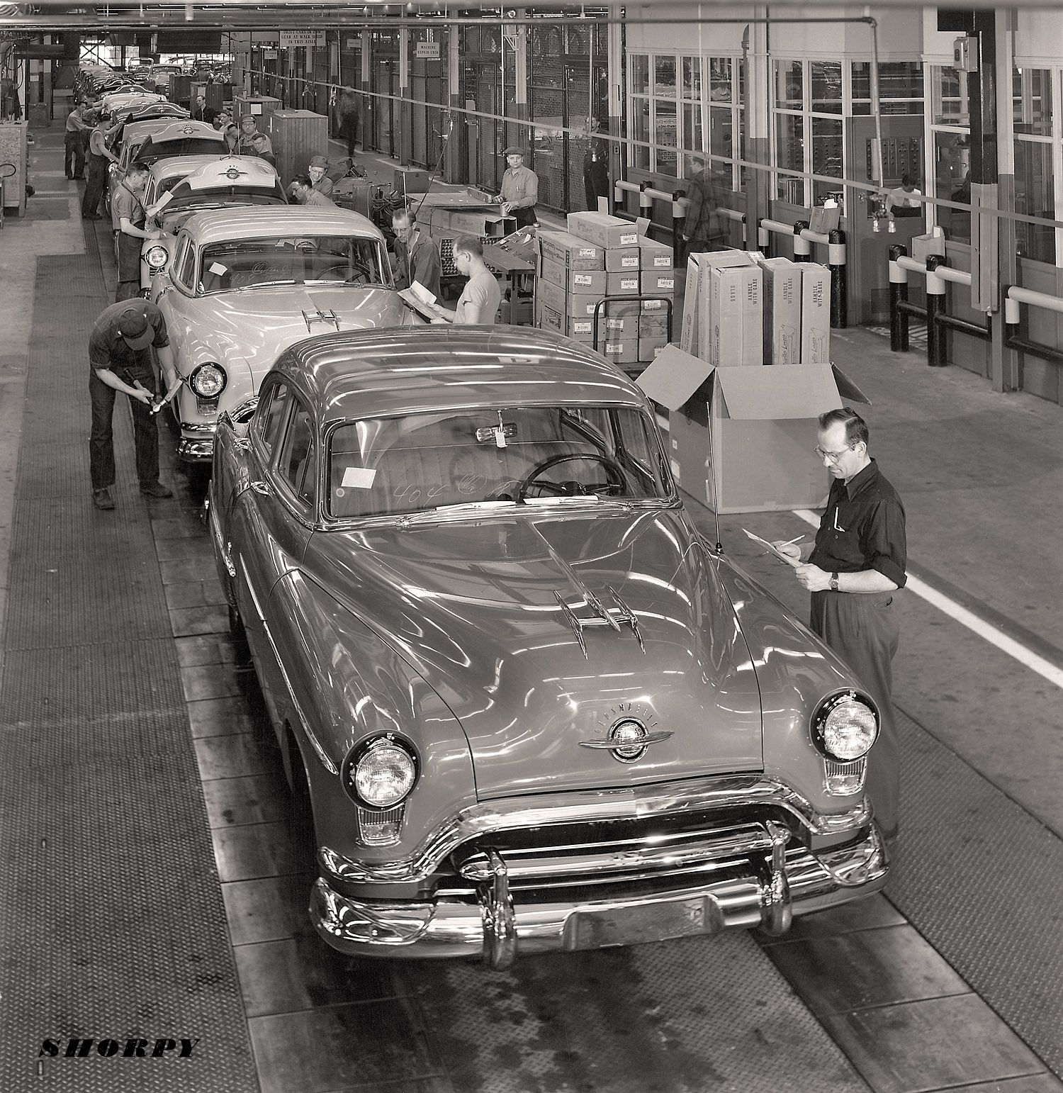 1951 Oldsmobile Final Assembly Ex General Motors Archives The