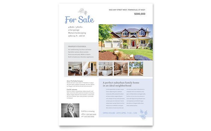 Real Estate Listing Flyer Template Design By StockLayouts Home For - Real estate listing template word