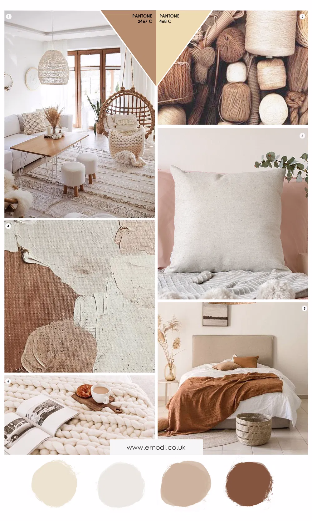 Interior Mood board: Beige & Brown interior decor