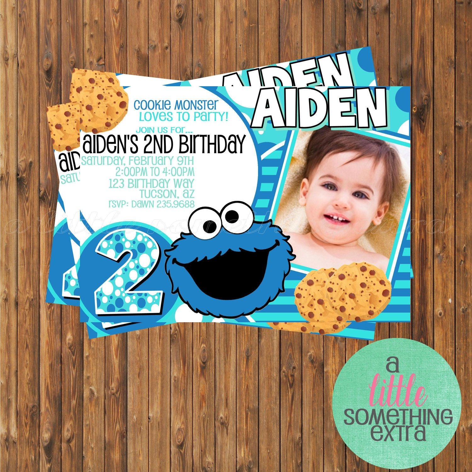 Cookie monster invitation cookie monster birthday invitation cookie monster invitation cookie monster birthday invitation printable invitation 950 via etsy filmwisefo Gallery