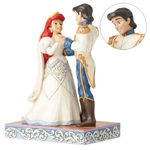 Disney Traditions Little Mermaid Ariel Eric Wedding Statue