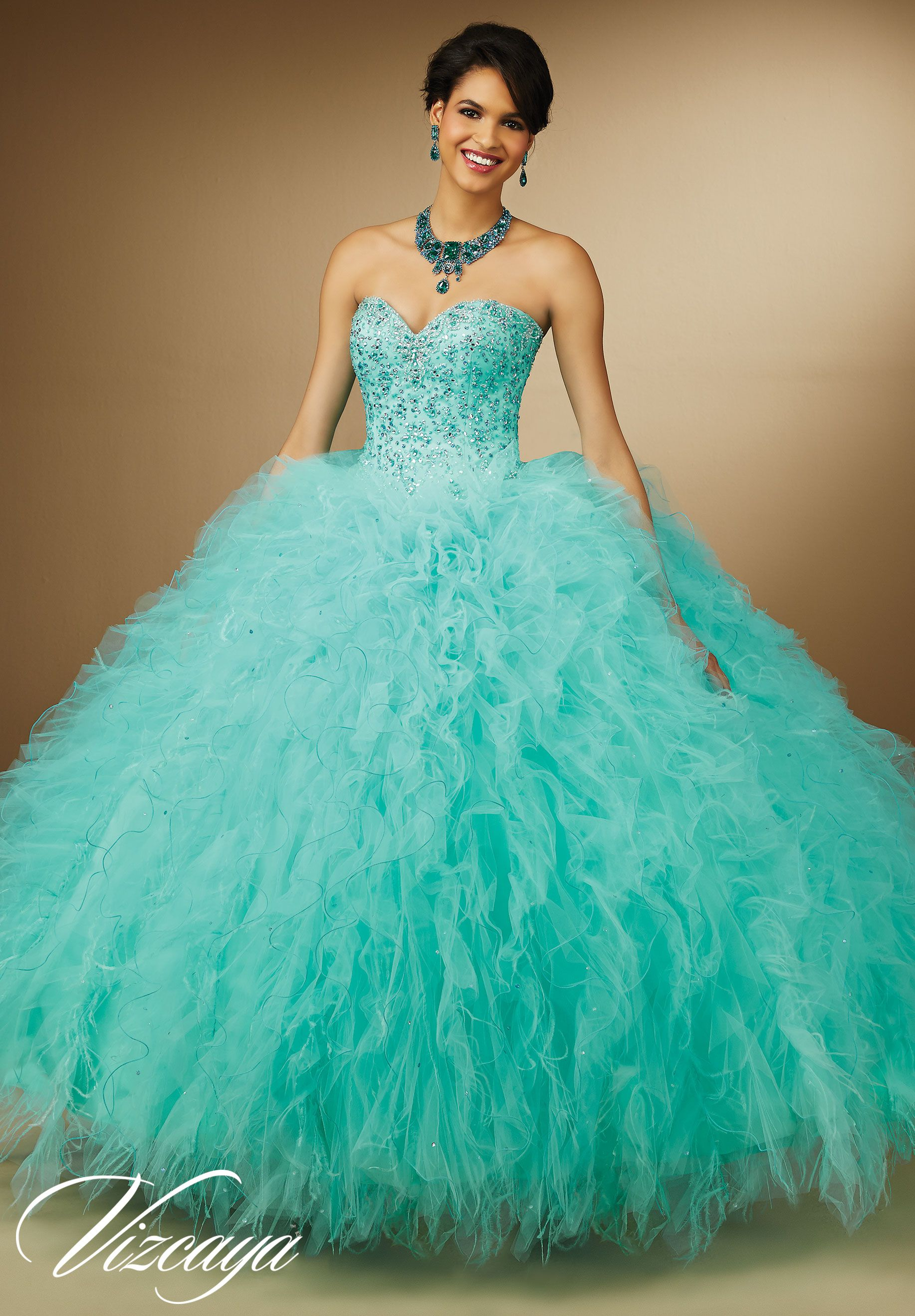 quinceanera #Gowns #Style 89055: #Embroidery and #Beading on ...