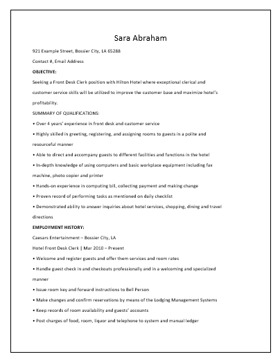 receptionist resume template - Receptionist Resume Template