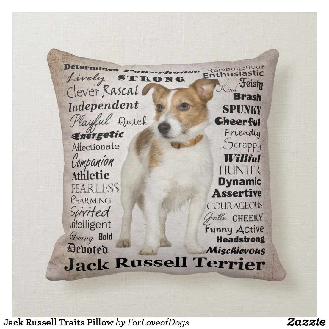 Jack russell traits pillow in 2020 jack