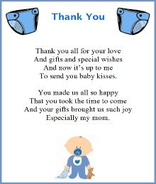 Thank You Poem From Baby Boy | Holiday shopping ideas | Pinterest ...