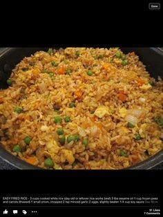 Easy Fried Rice...mmm, looks delicious! Makes me want to go to Osaka!! #chinesemeals